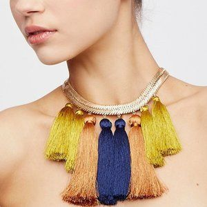 Free People Multi Tassel Collar